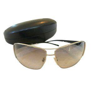 PRADA Sunglasses Silver Black White MODEL SPR 74G